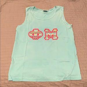 Phi Mu Letter Tank Top